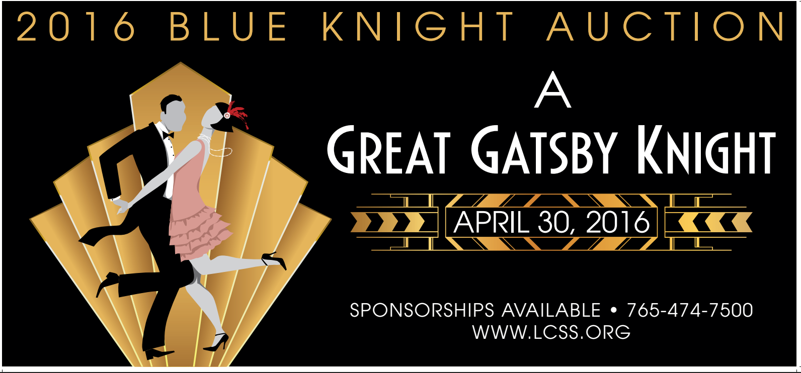 """Buy Tickets Now for """"A Great Gatsby Knight"""""""
