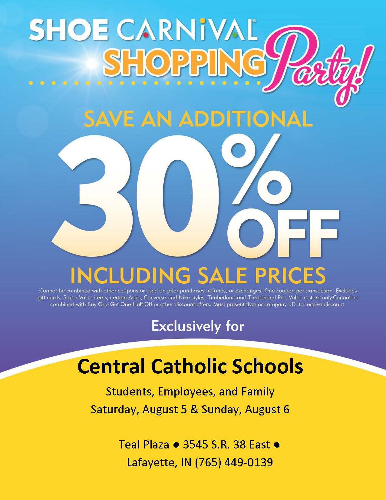 Back to School Shoe Sale this Weekend